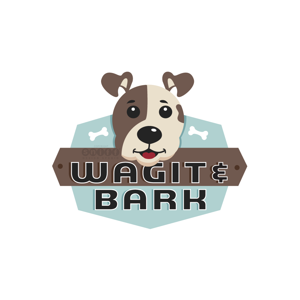 Wagit And Bark Pet Boutique - Pet Business Logo Design by Sniff Design Studio