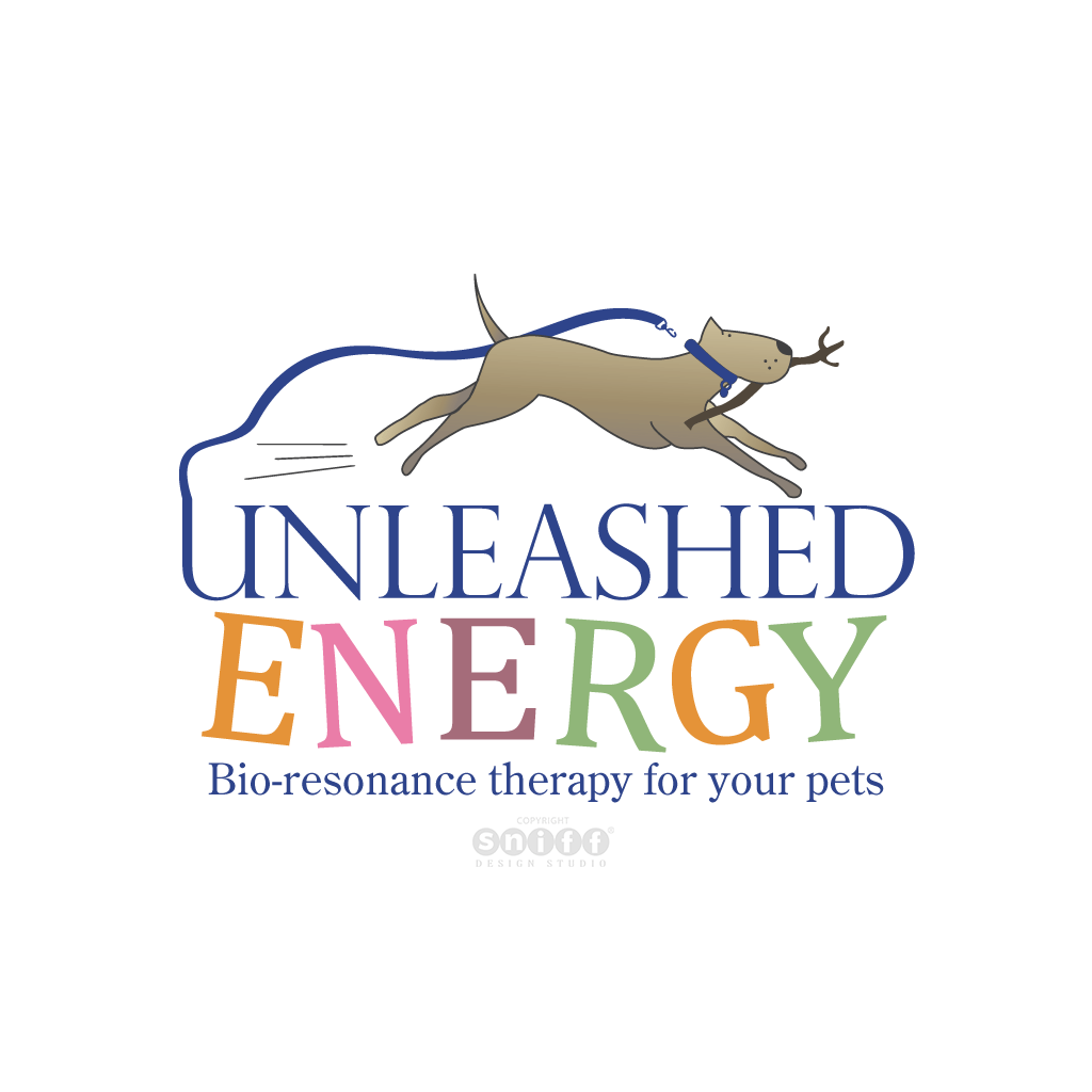 Unleashed Energy Pet Care Therapist Pet Business Logo Design by Sniff Design Studio