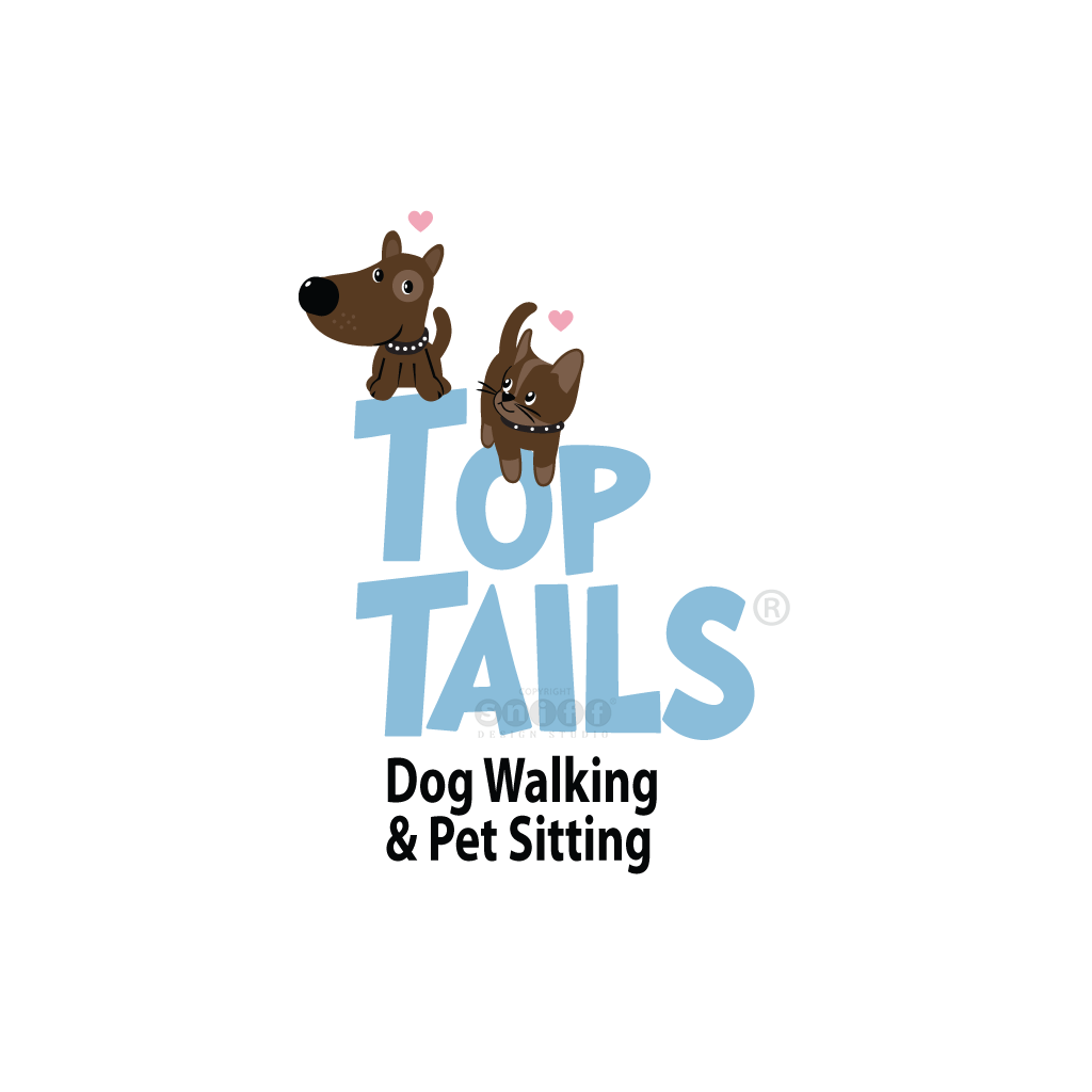 Top Tails Dog Walking & Pet Sitting - Pet Business Logo Design by Sniff Design Studio