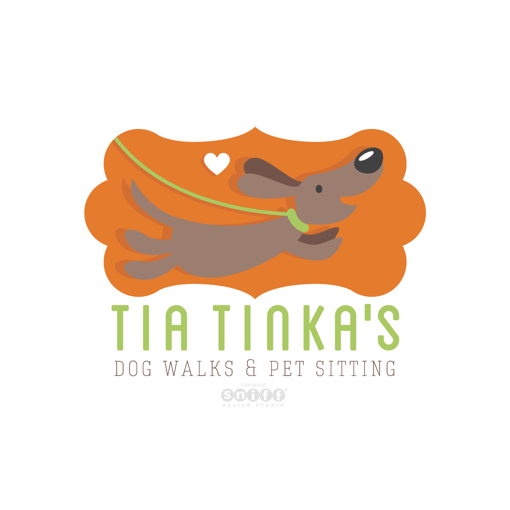 Tia Tinka's Dog Walks & Pet Sitting - Pet Business Logo Design