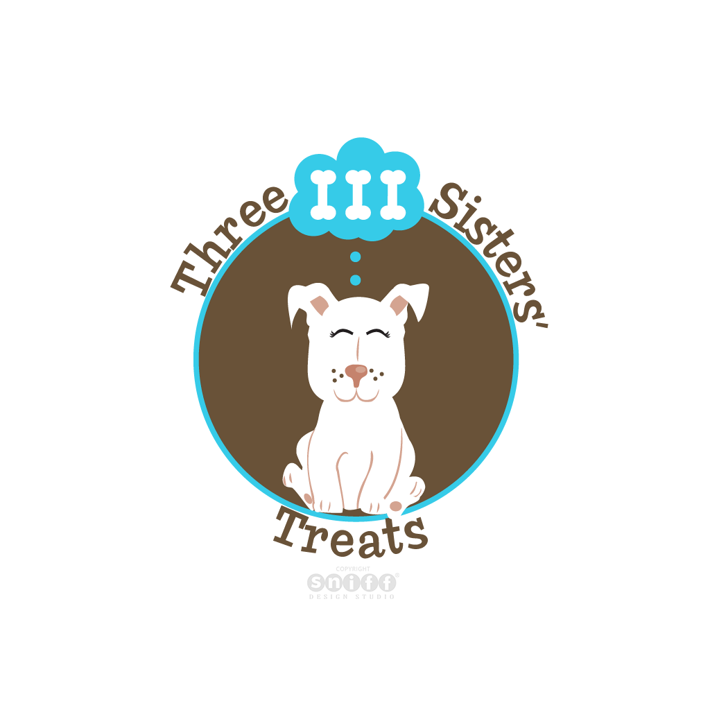 Three Sisters Treats - Pet Bakery Business Logo Design by Sniff Design Studio