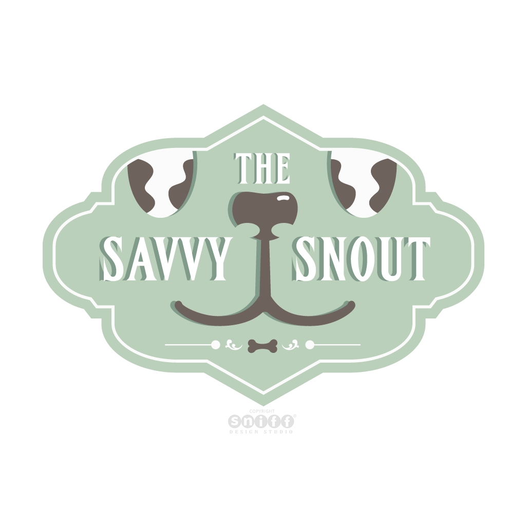 The Savvy Snout - Pet Business Logo Design by Sniff Design Studio