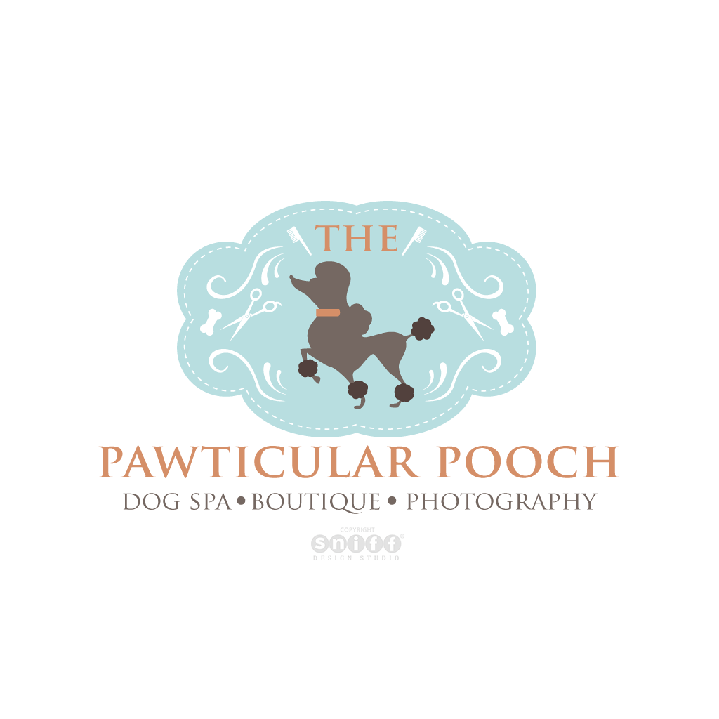 The Pawticular Pooch Pet Boutique & Pet Spa - Pet Business Logo Design by Sniff Design Studio