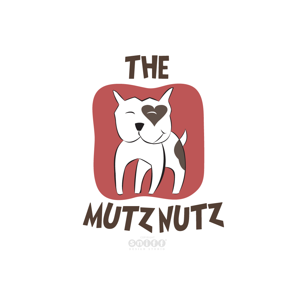 The Mutz Nutz Pet Boutique, UK - Pet Business Logo Design by Sniff Design Studio