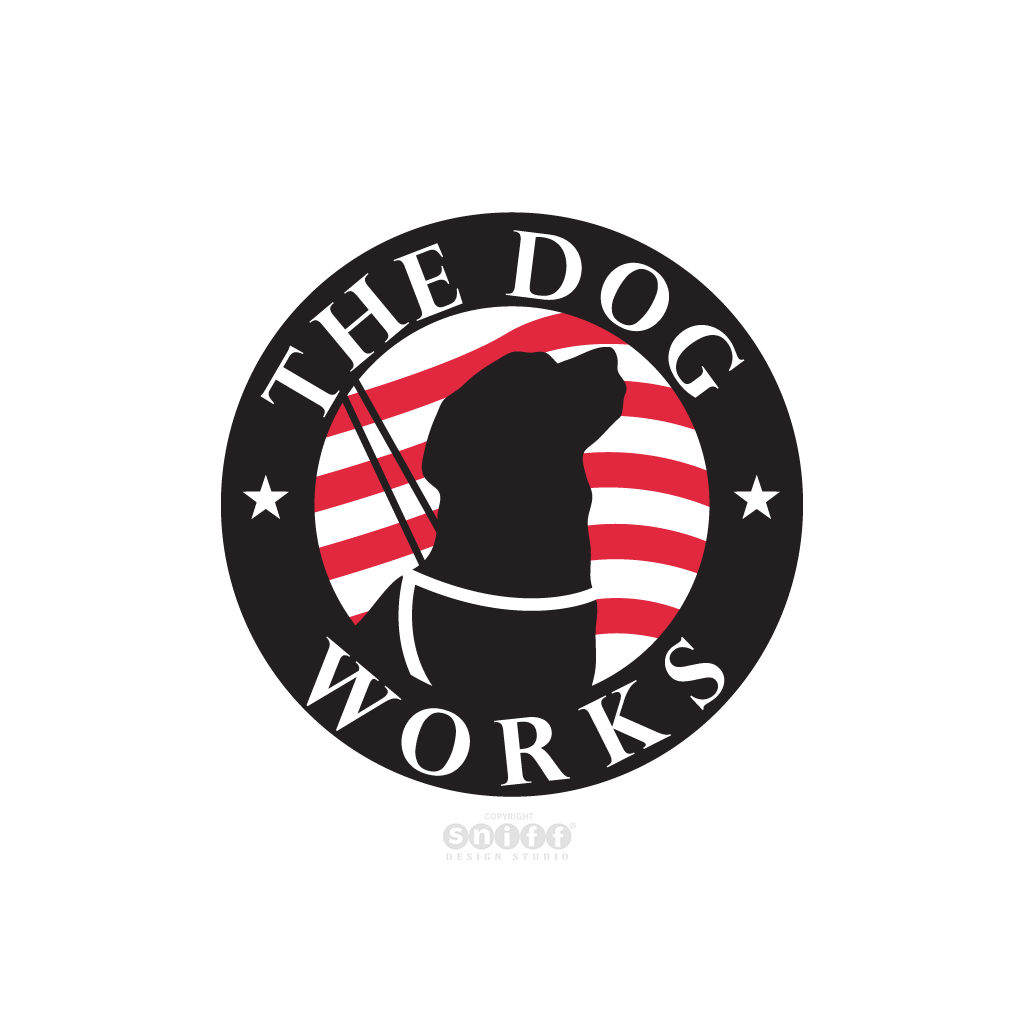 The Dog Works - Pet Business Logo Design by Sniff Design Studio