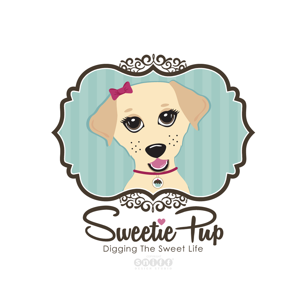 Sweetie Pup - Pet Blog Logo Design by Sniff Design Studio