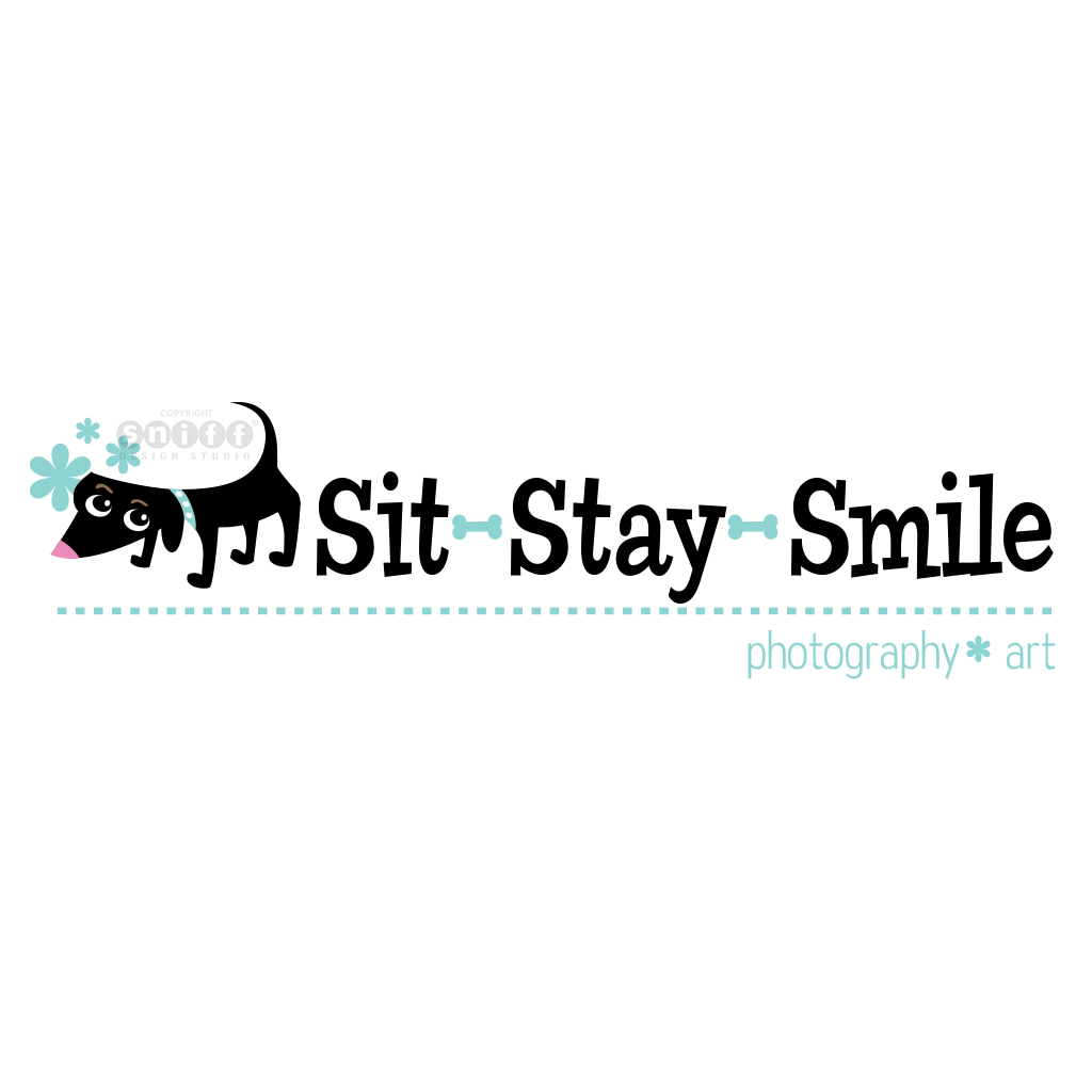 Sit Stay Smile Pet Photography - Pet Business Logo Design