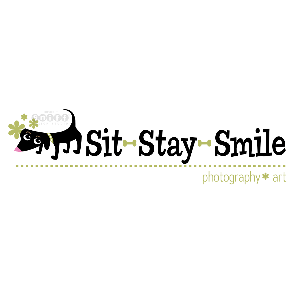 Sit Stay Smile Pet Photography - Pet Business Logo Design #2 by Sniff Design Studio