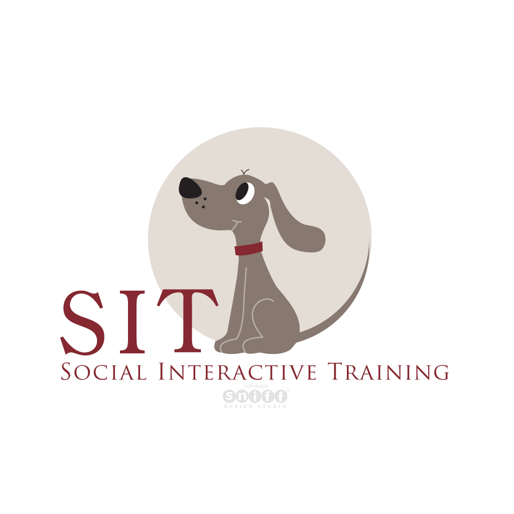 Sit Dog Training Logo - Pet Business Logo Design by Sniff Design Studio