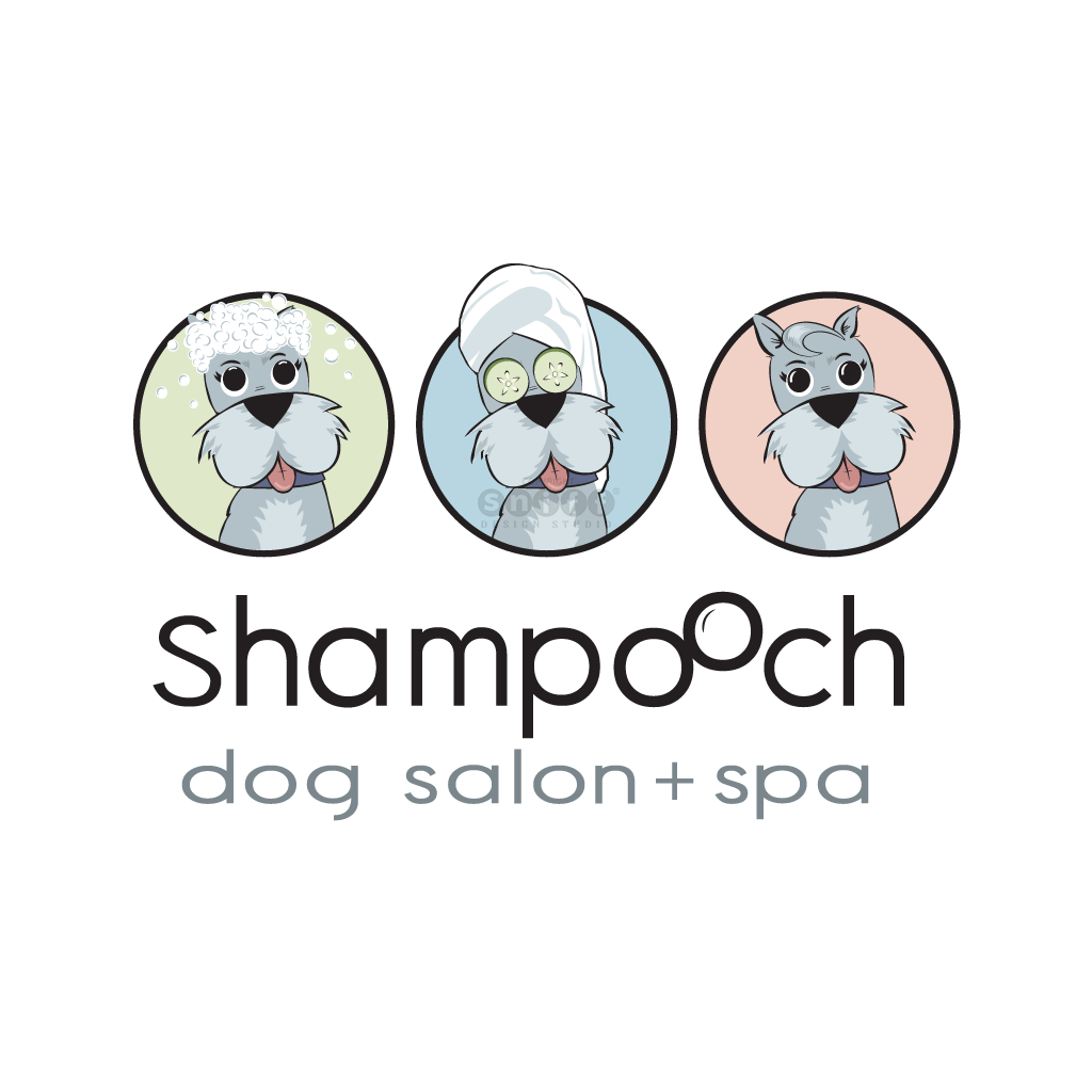 Shampooch Dog Salon & Pet Spa - Pet Business Logo Design by Sniff Design Studio