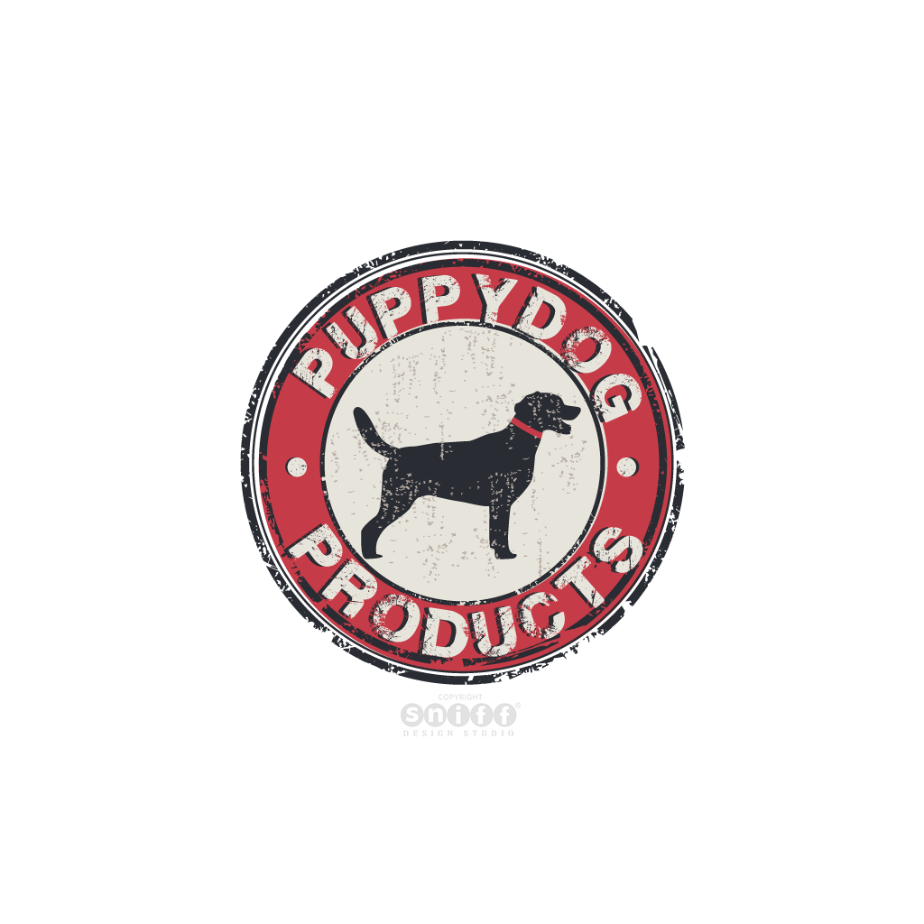 Puppy Dog Products - Pet Business Logo Design by Sniff Design Studio.