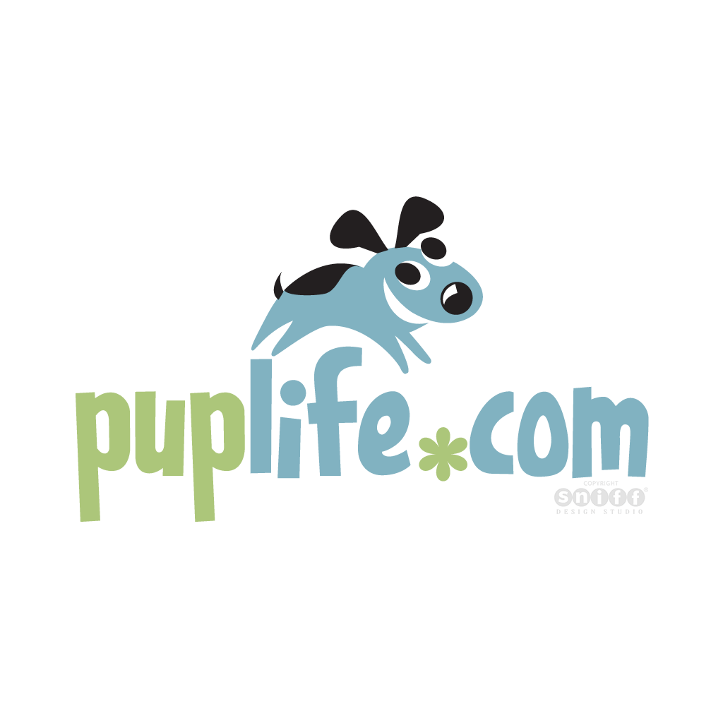 Pup Life Online Pet Boutique - Pet Business Logo Design by Sniff Design Studio.