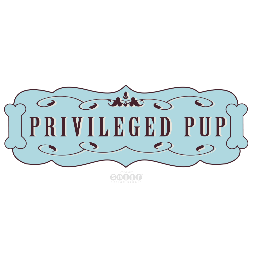 Privileged Pup Pet Boutique - Pet Business Logo Design #2 by Sniff Design Studio.