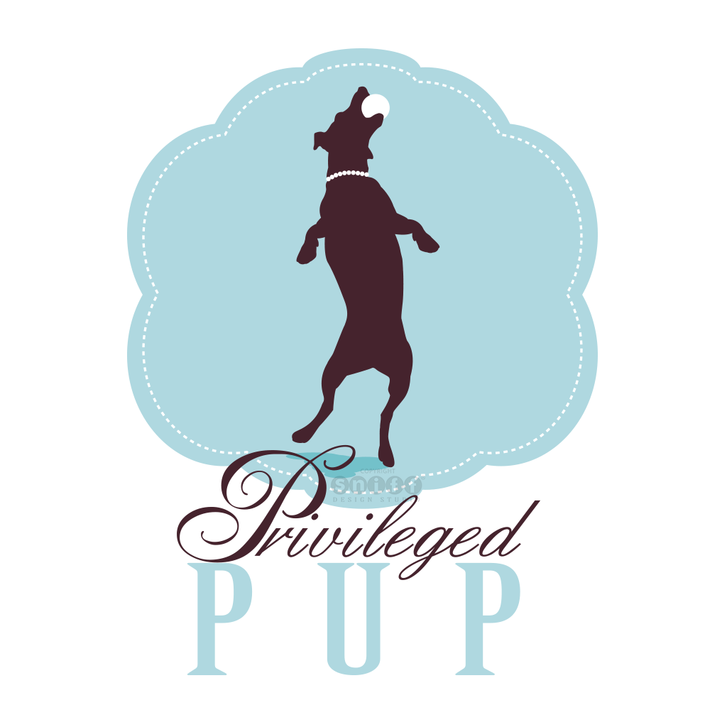 Privileged Pup Pet Boutique - Pet Business Logo Design by Sniff Design Studio.