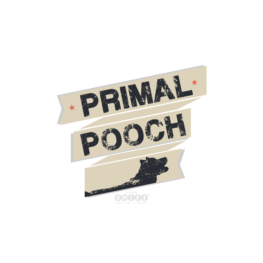 Primal Pooch - Raw Dog Food Nutritionist - Pet Business Logo Design