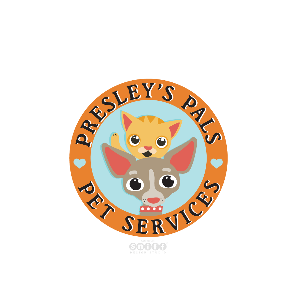 Presley's Pals Pet Services - Pet Business Logo Design
