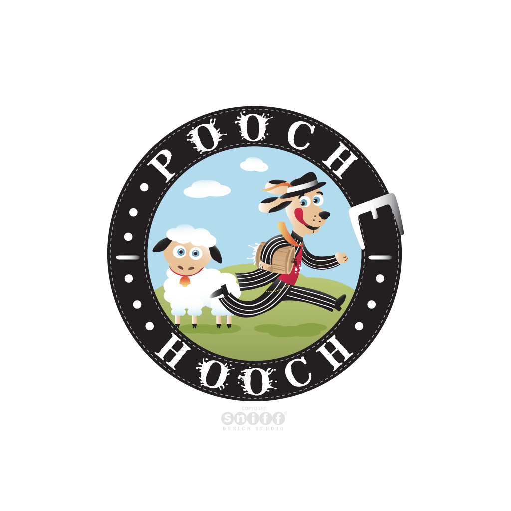Pooch Hooch - Pet Food Supplier - Pet Business Logo Design