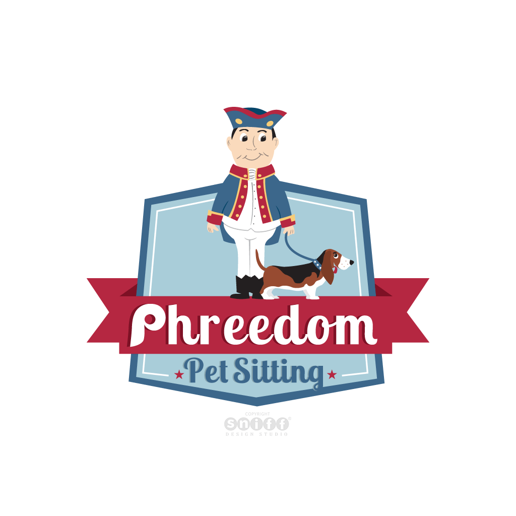 Phreedom Pet Sitting - Pet Business Logo Design by Sniff Design Studio.