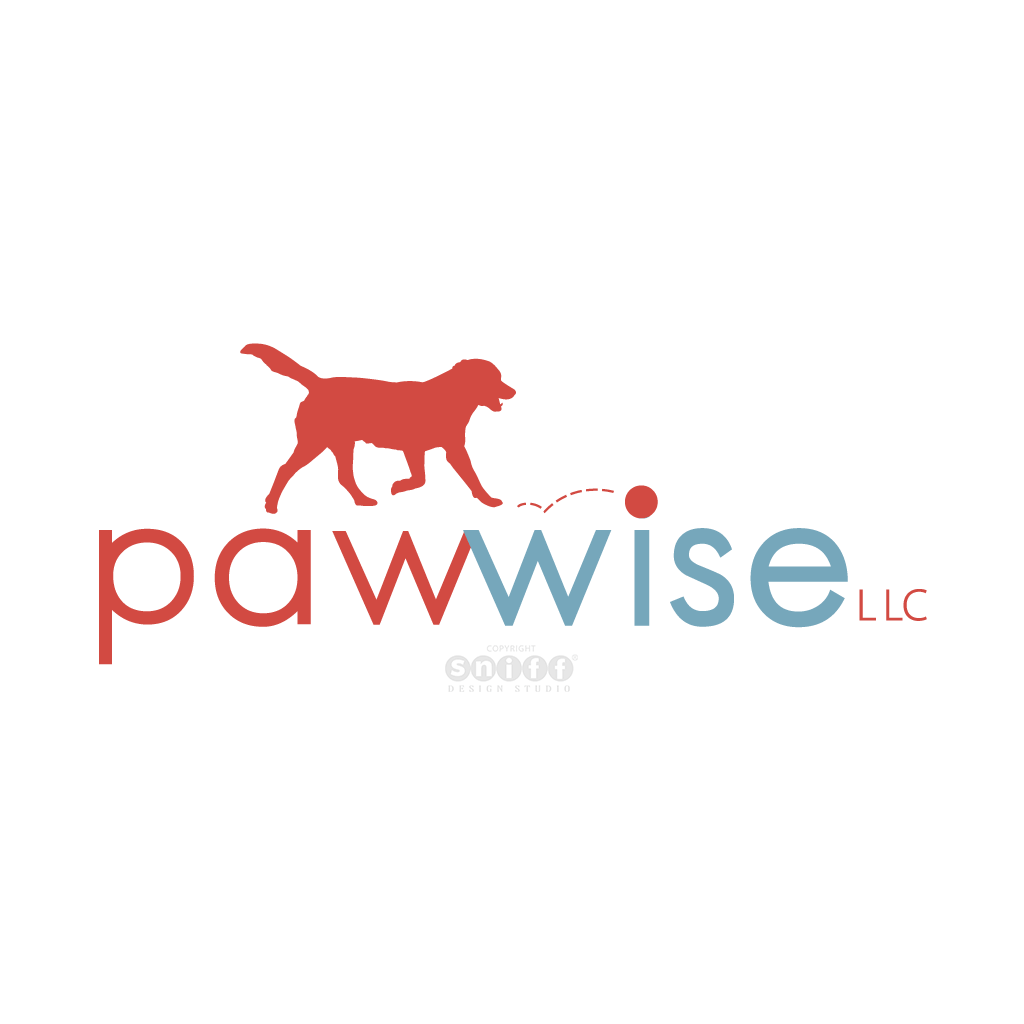 Pawwise Pet Sitting - Pet Business Logo Design by Sniff Design Studio.