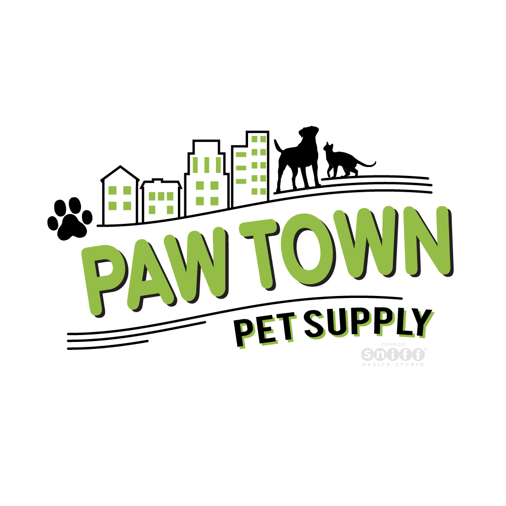 Pawtown Pet Supply - Pet Business Logo Design by Sniff Design Studio.
