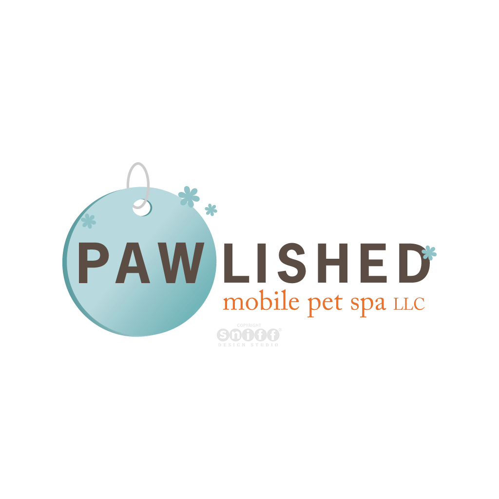 Pawlished Mobile Pet Spa - Pet Business Logo Design