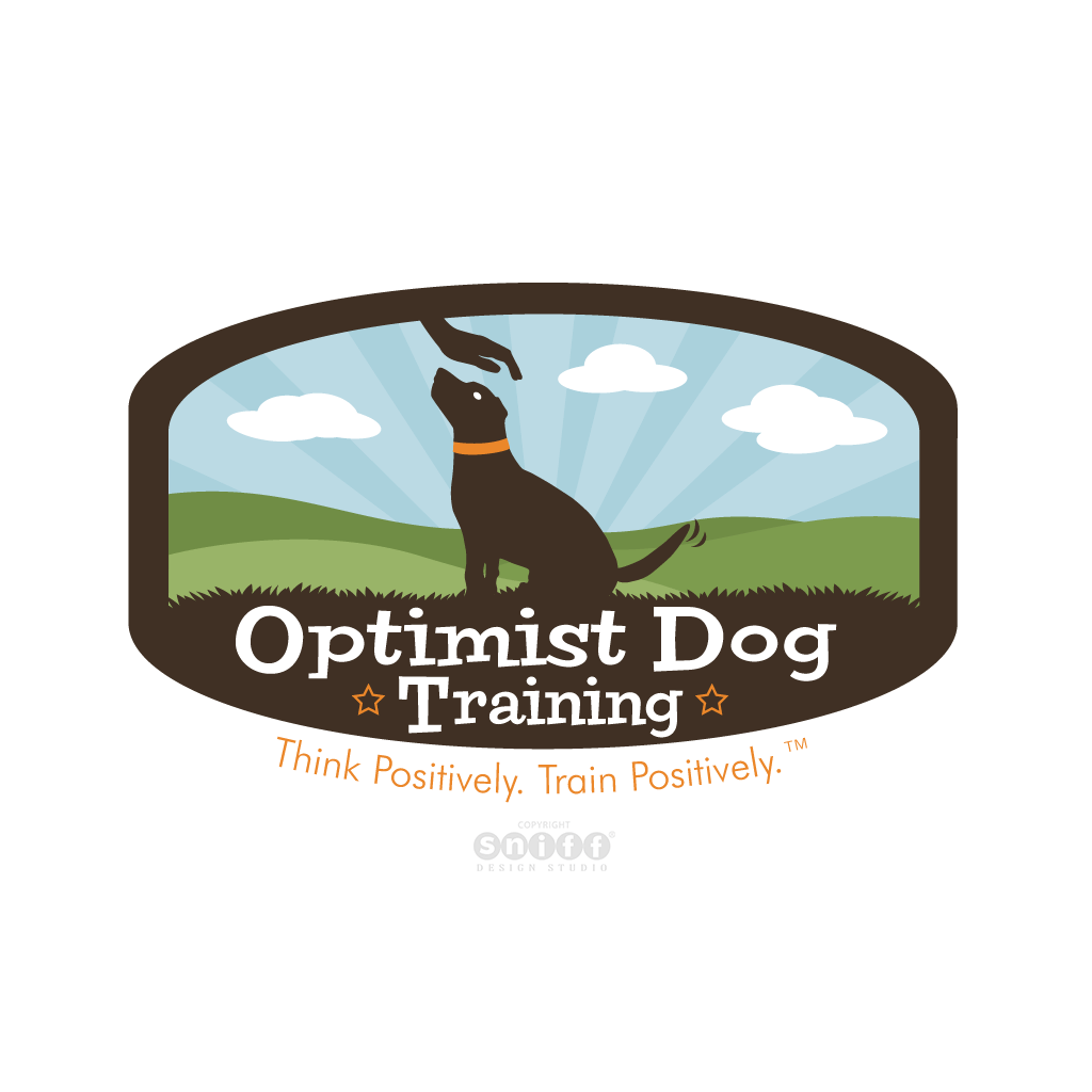 Optimist Dog Training - Pet Business Logo Design