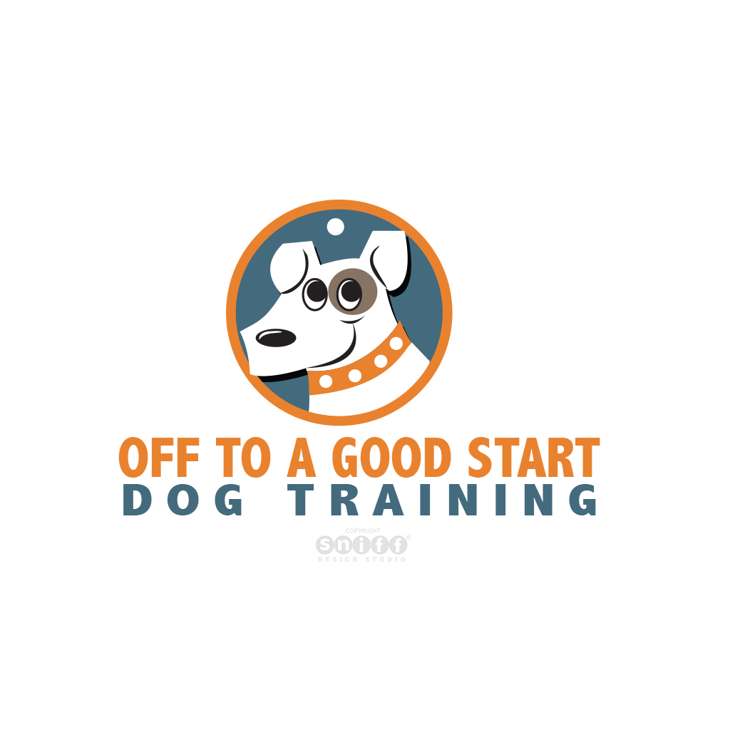 Off To A Good Start Dog Training - Pet Business Logo Design by Sniff Design Studio.