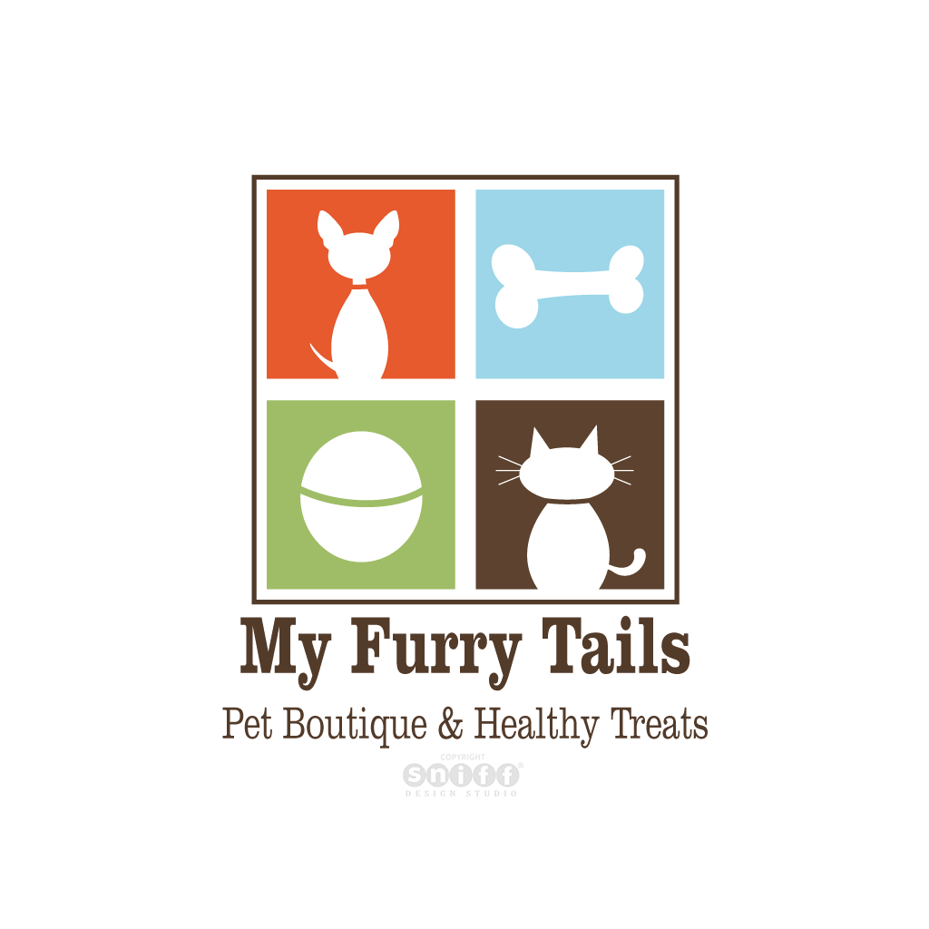 My Furry Tails Pet Boutique - Pet Business Logo Design