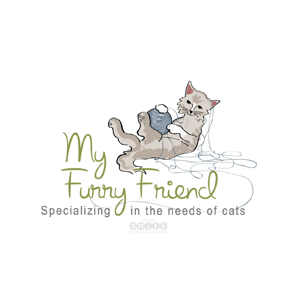 My Furry Friend Cat Sitting Service - Pet Business Logo Design