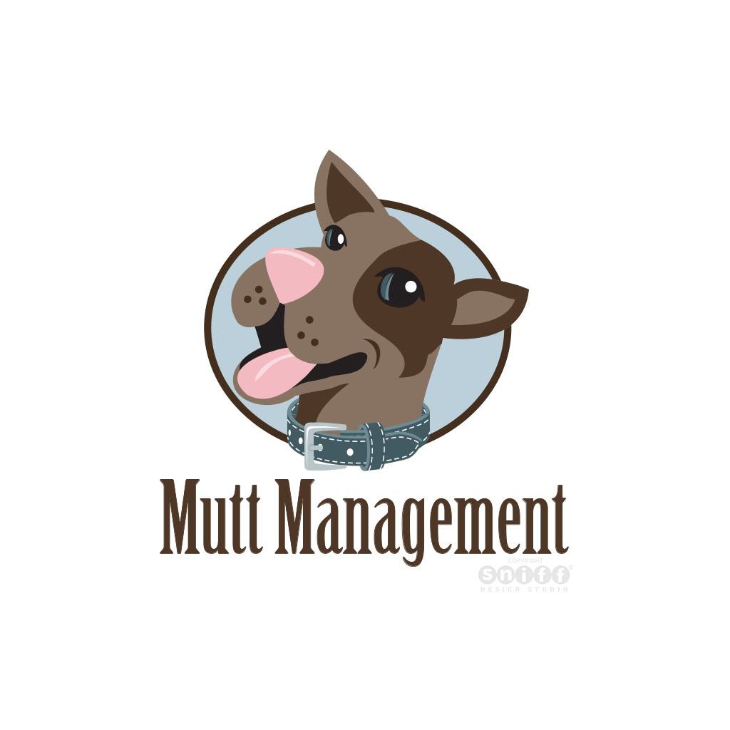 Mutt Management Dog Training - Pet Business Logo Design by Sniff Design Studio.