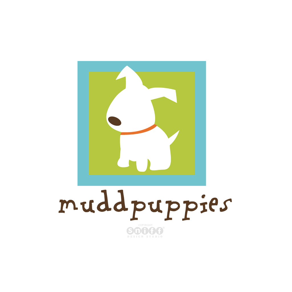 Muddpuppies Pet Boutique - Pet Business Logo Design by Sniff Design Studio.