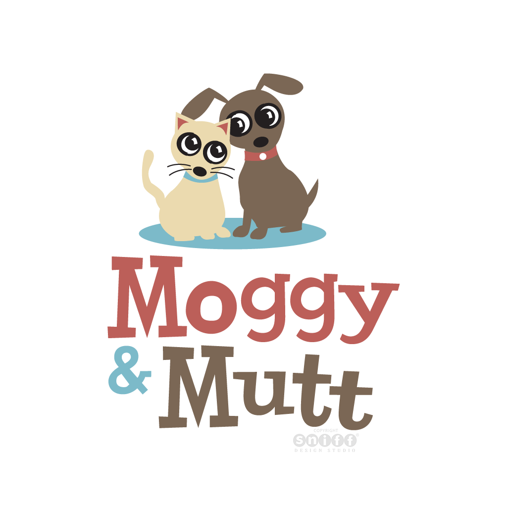 Moggy and Mutt, Australian Pet Boutique - Pet Business Logo Design by Sniff Design Studio.