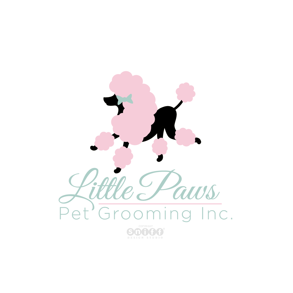 Little Paws Pet Grooming Inc. - Pet Business Logo Design by Sniff Design Studio.