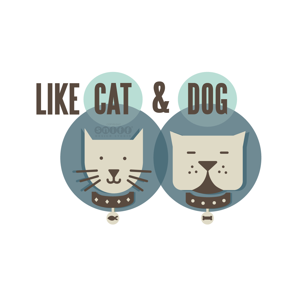 Like Cat & Dog Pet Boutique - Pet Business Logo Design by Sniff Design Studio.