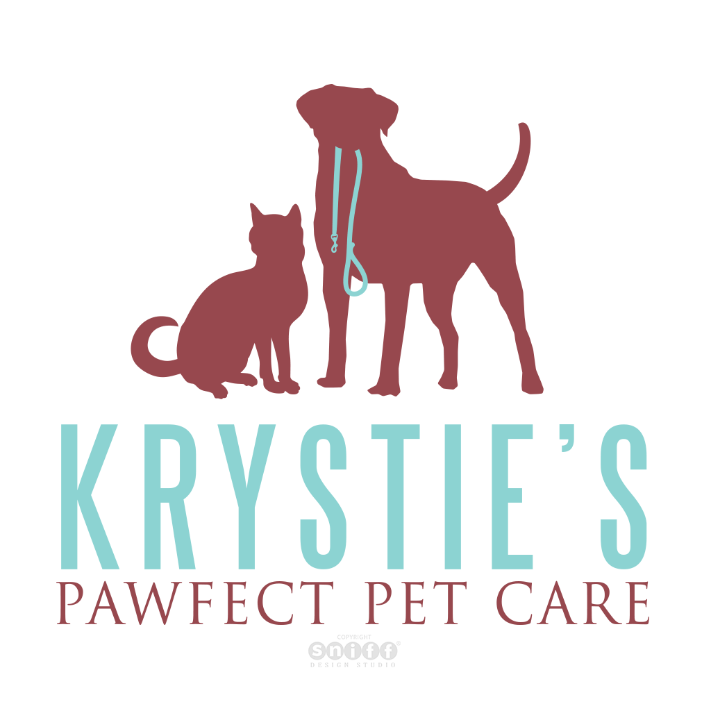 Krystie's Pawfect Pet Care, NY - Pet Business Logo Design by Sniff Design