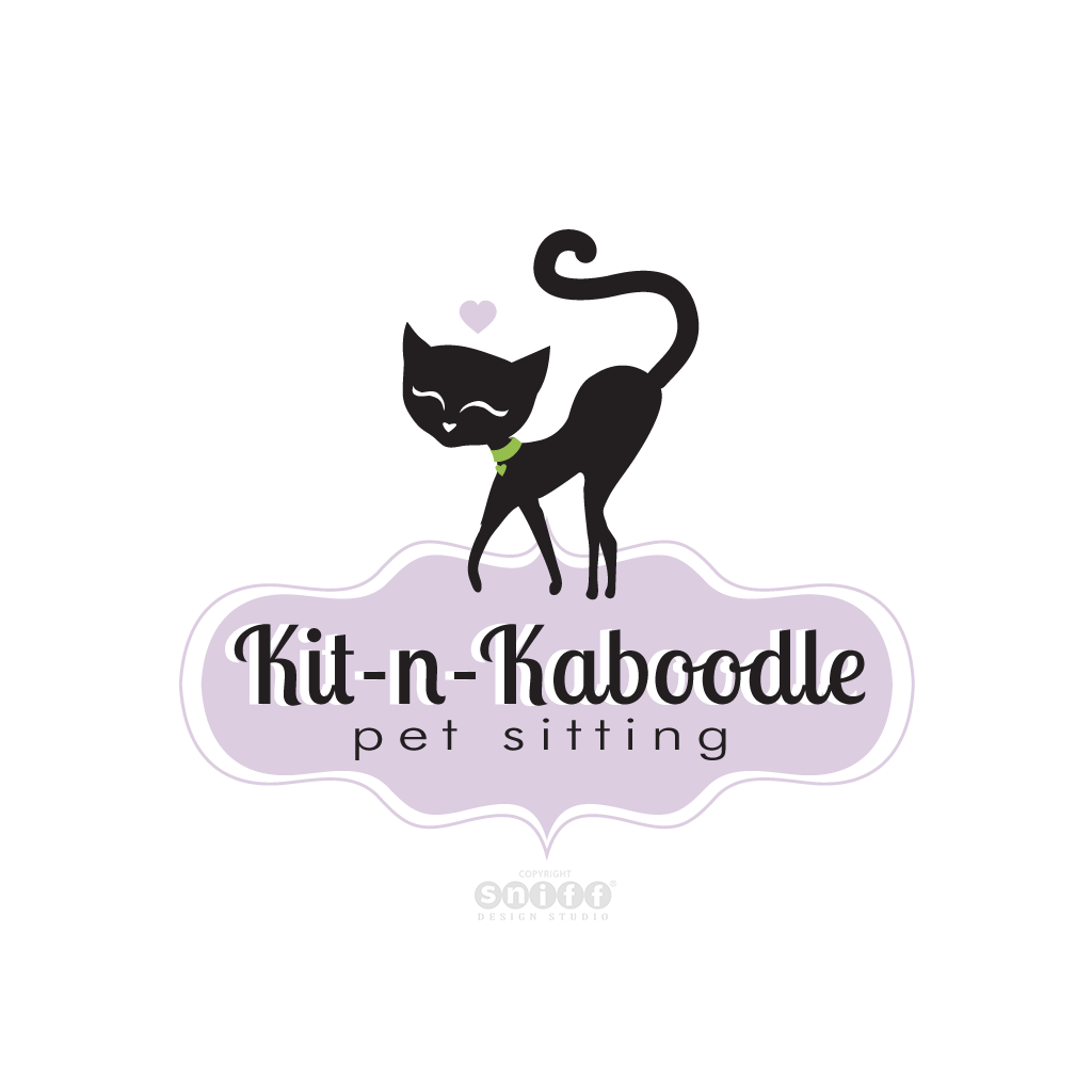Kit-n-Kaboodle Pet Sitting - Pet Business Logo Design by Sniff Design