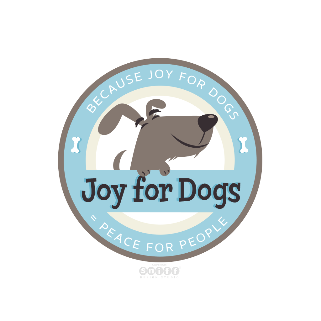 Joy For Dogs Dog Training - Pet Business Logo Design by Sniff Design Studio.