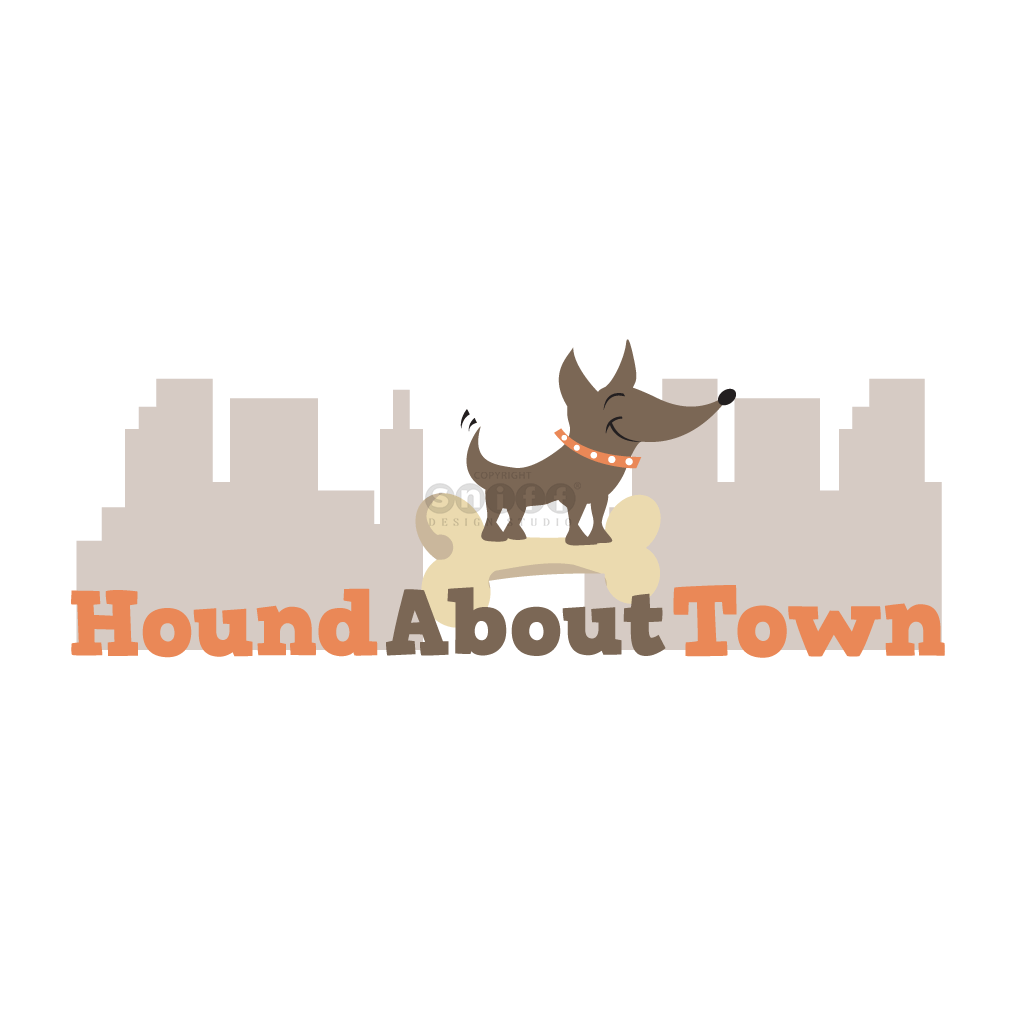 Hound About Town Pet Boutique - Pet Business Logo Design by Sniff Design Studio.