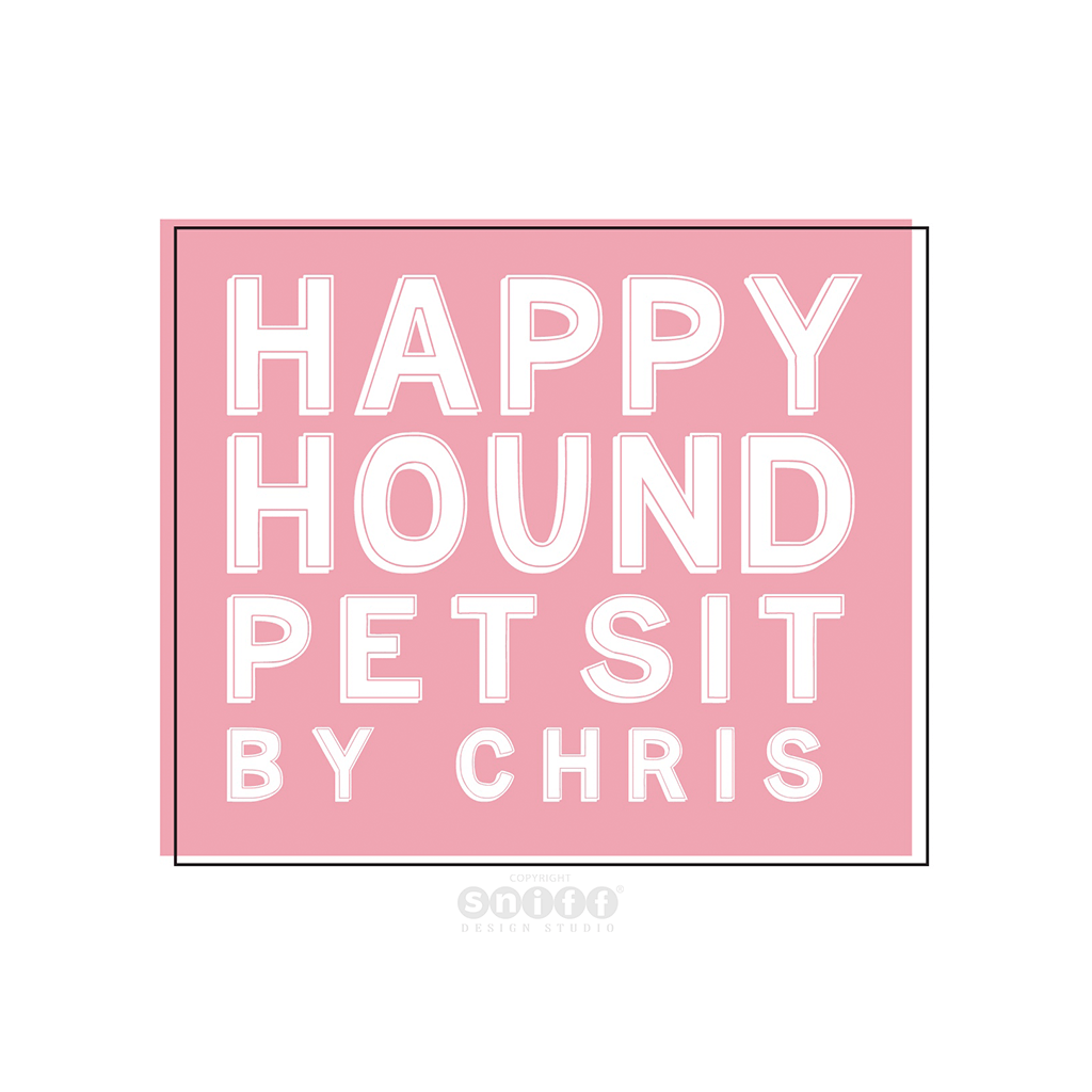 Happy Hound Pet Sit - Pet Business Logo Design by Sniff Design Studio.