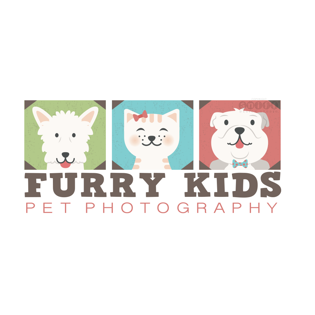 Furry Kids Pet Photography - Pet Business Logo Design by Sniff Design Studio, an award winning pet branding design agency since 2003.