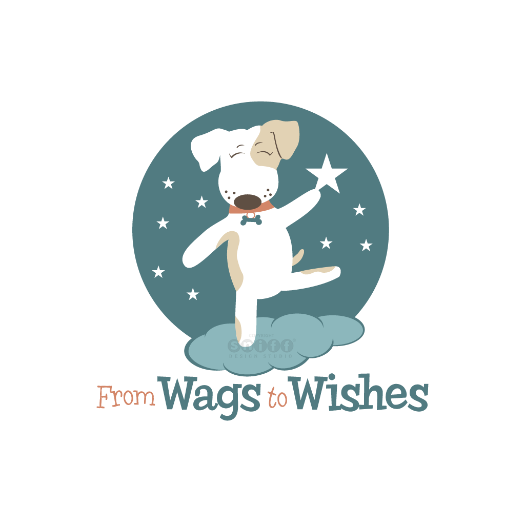 From Wags to Wishes Pet Tag Company - Pet Business Logo Design Version #2