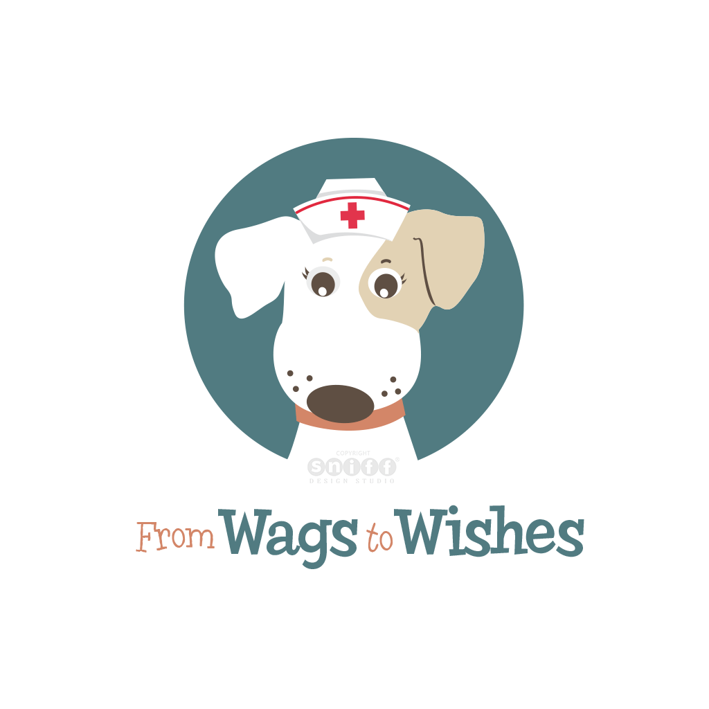 From Wags to Wishes Pet Tag Company - Pet Business Logo Design Version #1 by Sniff Design