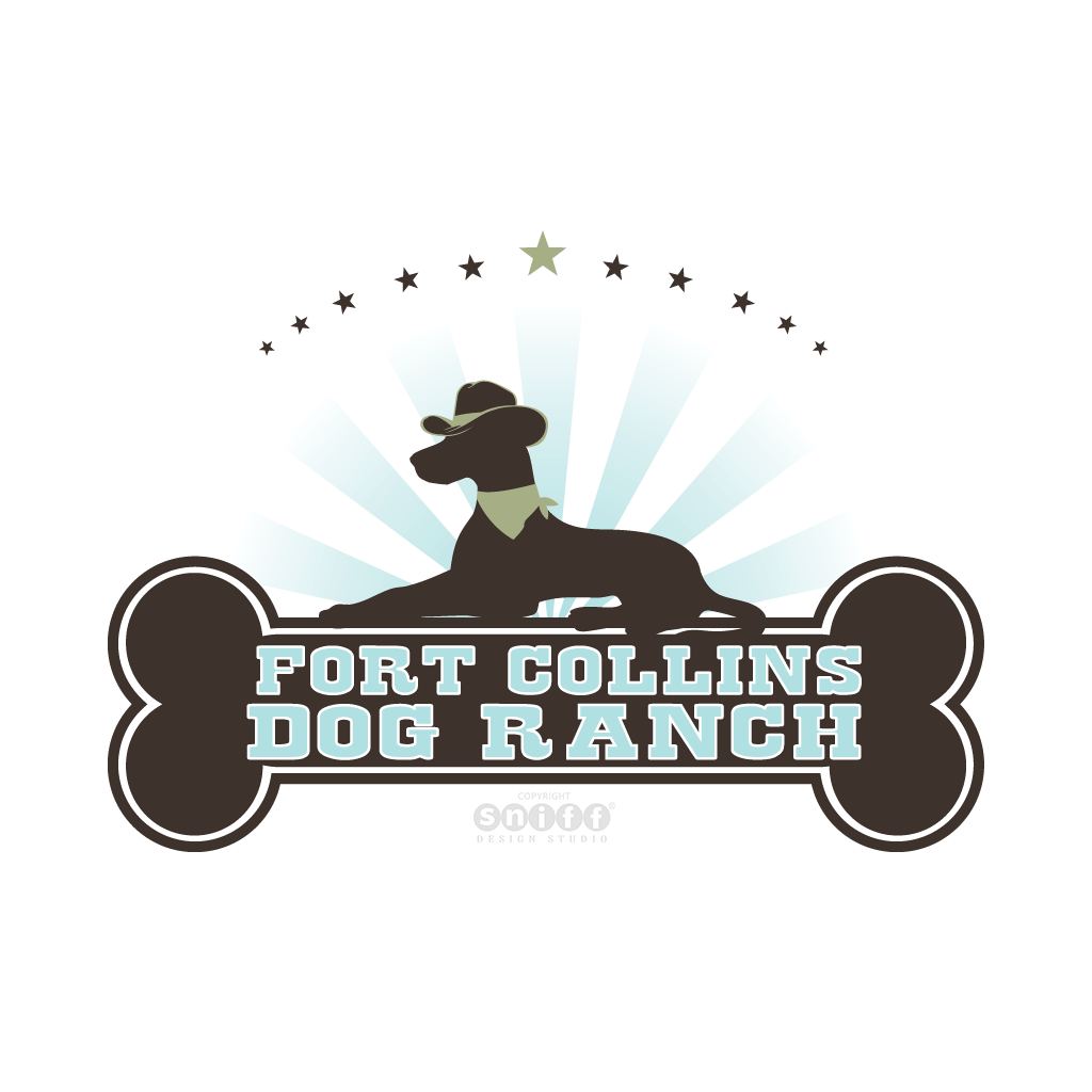 Fort Collins Dog Ranch - Pet Business Logo Design by Sniff Design Studio.