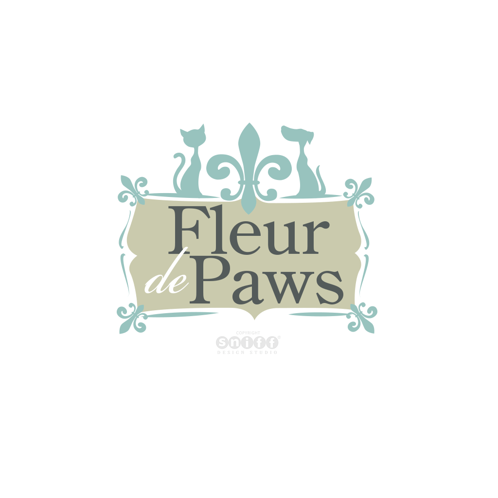 Fleur De Paws Pet Spa & Boutique - Pet Business Logo Design by Sniff Design