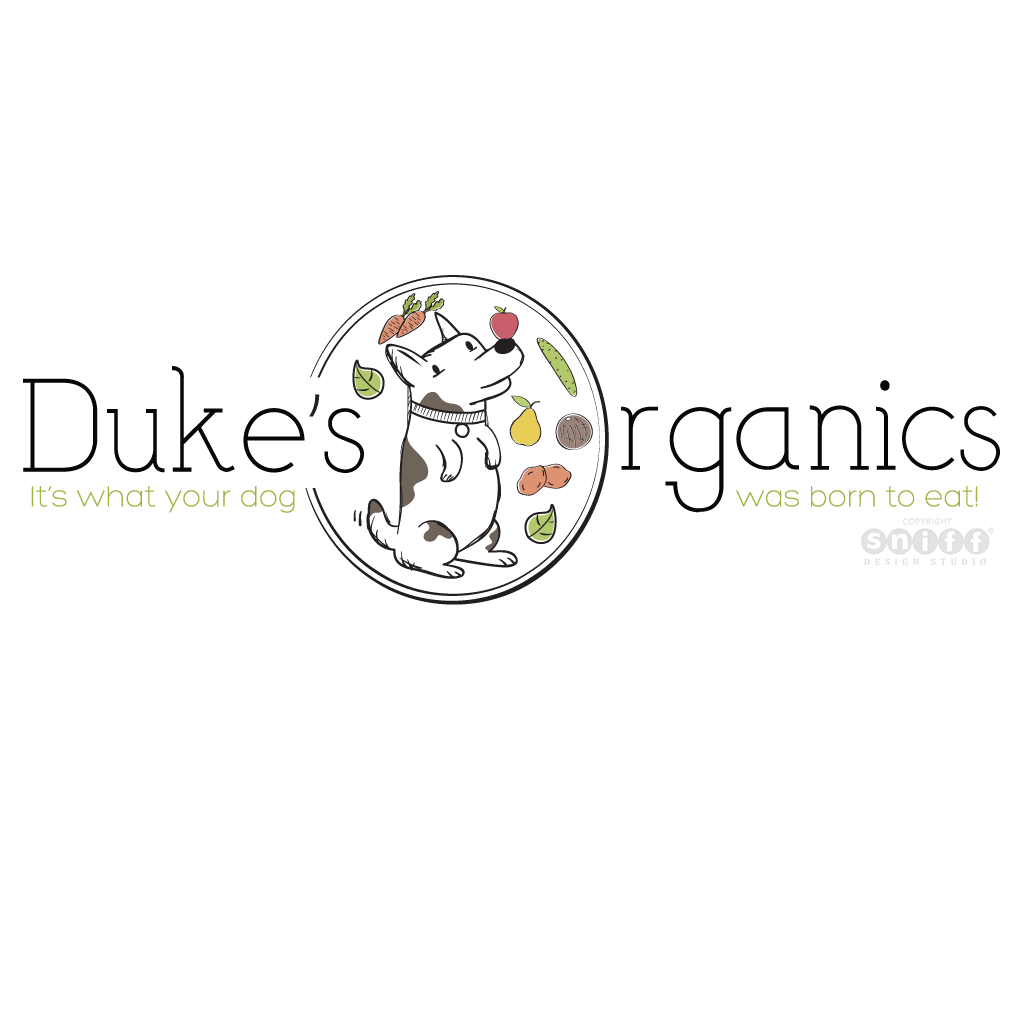 Dukes Organics, UK - Pet Treat Logo Design by Sniff Design Studio.