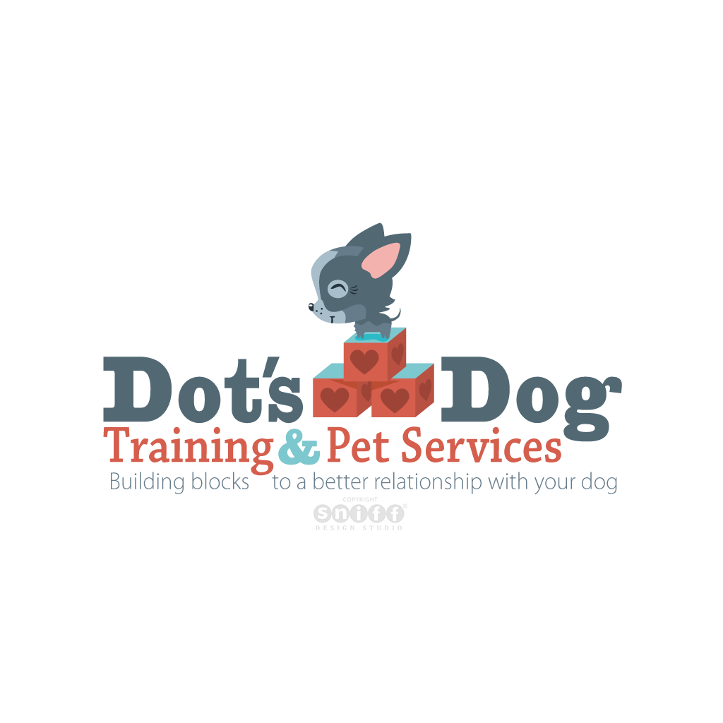 Dots Dog Training - Pet Business Logo Design by Sniff Design Studio.