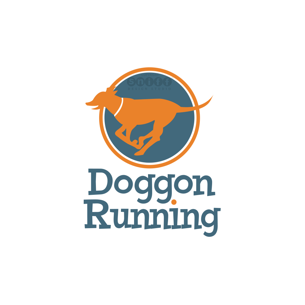 Doggon Running & Dog Walk Services - Pet Business Logo Design
