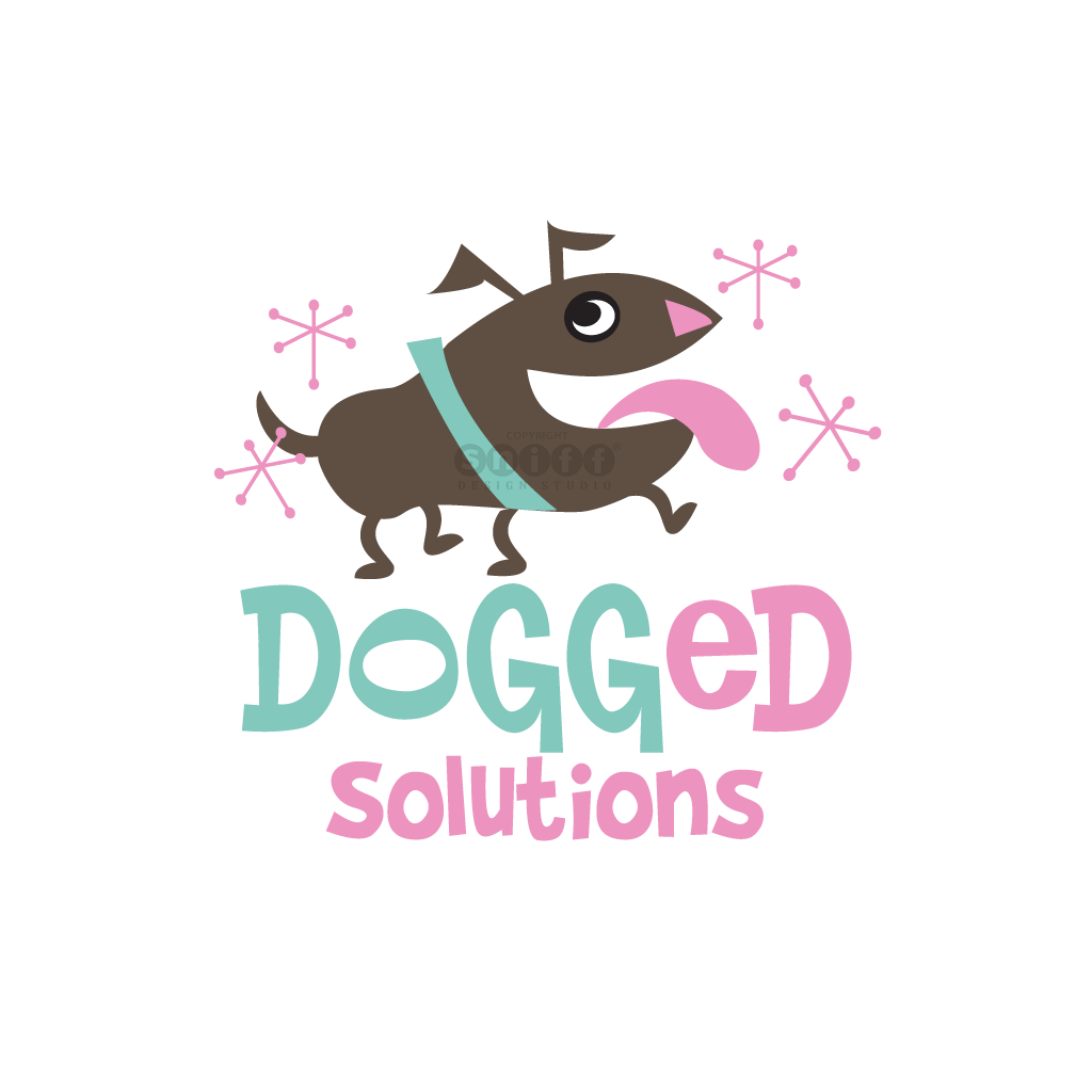 Dogged Solutions - Dog Training - Pet Business Logo Design by Sniff Design Studio.