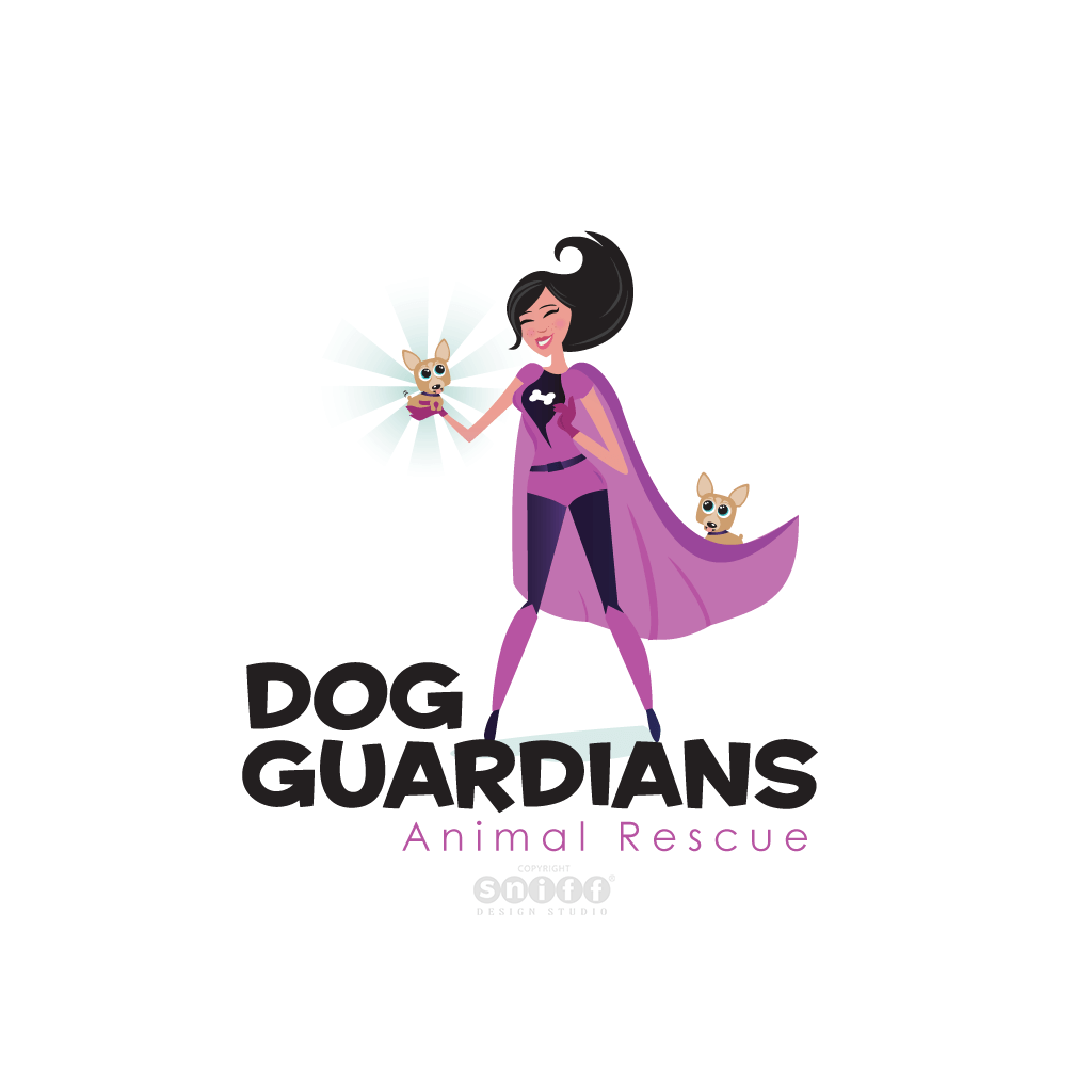 Dog Guardians Animal Rescue - Pet Business Logo Design by Sniff Design Studio.