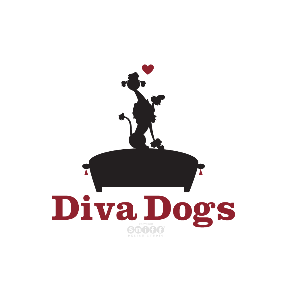 Diva Dogs Grooming & Dog Walking - Pet Business Logo Design by Sniff Design Studio.